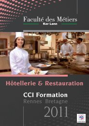 Catalogue formation continue hôtellerie-restauration ... - CCI Rennes