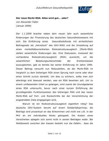 Beitrag von Alexander Falter (Januar 2009) - Zukunftsforum ...