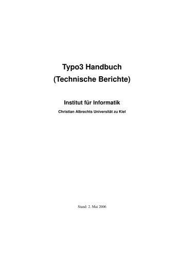 Typo3 Handbuch (Technische Berichte) - Institut für Informatik ...