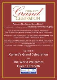 Cunard's Grand Celebration The World Welcomes Queen Elizabeth
