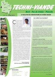 Techniviande n°15 - Chambre d'agriculture du Nord-Pas-de-Calais