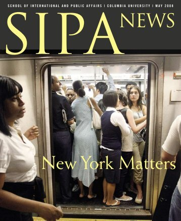 New York Matters - School of International and Public Affairs ...