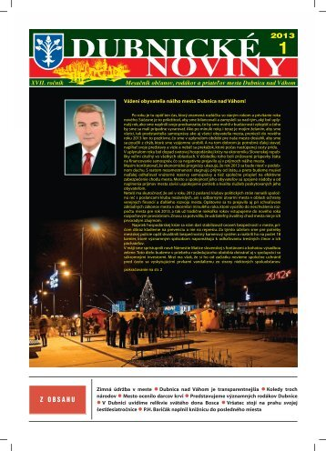 dubnické noviny 1 - Dubnica nad Váhom