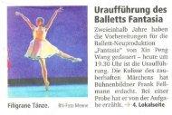 Uraufführung des Balletts Fantasia