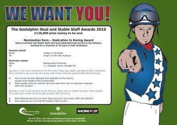 Dedication to Racing Award - British Horseracing Authority