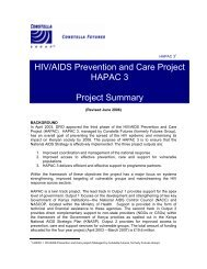 HIV/AIDS Prevention and Care Project HAPAC 3 ... - Futures Group
