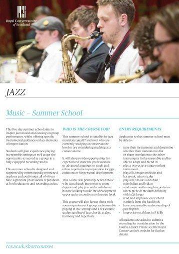music — Summer School - Royal Conservatoire of Scotland