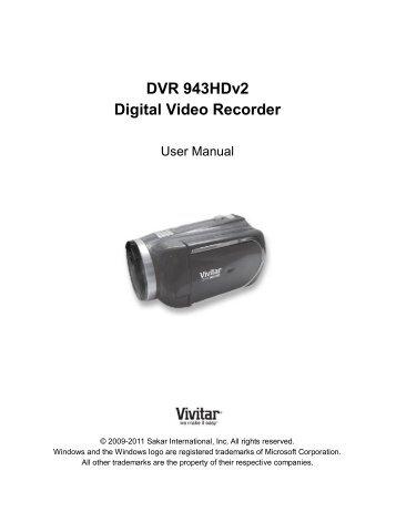 dvr 650 digital video camera vivitar rh yumpu com Vivitar DVR 925Hd Vivitar HD Camera