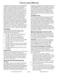 COLLECTIONS PROCESS - Arizona Department of Revenue