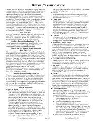 RETAIL CLASSIFICATION - Arizona Department of Revenue