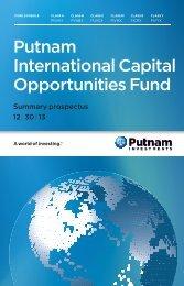 Download Summary Prospectus - Putnam Investments