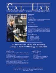 2014MediaKit - Cal Lab Magazine
