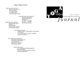 Ausgabe 5, Frühling 2001 - Yoga Vidya