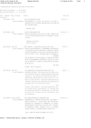 Estado do Rio Grande do Sul Empenhos Emitidos 1 de Agosto de ...