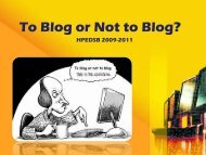 To Blog or Not to Blog?