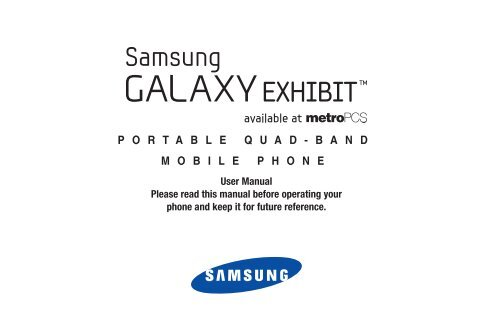 MetroPCS SGH-T599N Samsung Galaxy EXHIBIT User Manual