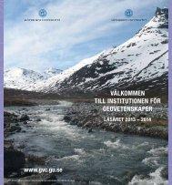 Läs mer i broschyren - Institutionen för geovetenskaper - Göteborgs ...