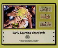 Early Learning Standards - Arizona Department of Education