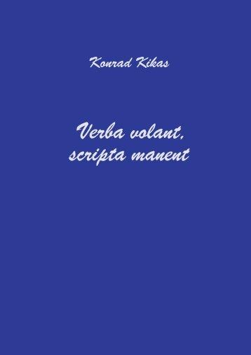 Verba volant, scripta manent - Tallinna Tehnikaülikooli raamatukogu