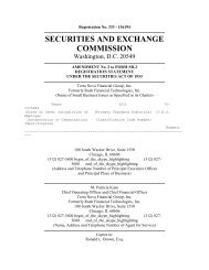 SECURITIES AND EXCHANGE COMMISSION - Deep Capture