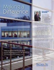 SX DevelDonorFINAL.indd - The Sigma Xi Fund