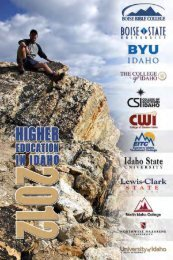 Higher Education in Idaho 2012 - the State Board of Education ...