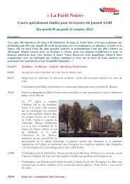 (ag voyages 2012 Forêt Noire programme Thomas Voyages)