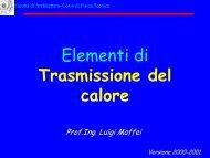 Trasmissione del calore - Facoltà di Architettura Luigi Vanvitelli
