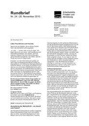 Rundbrief 24 - Arbeitsstelle Frieden und Abrüstung eV