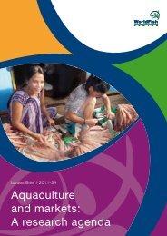 Aquaculture and markets: A research agenda - World Fish Center