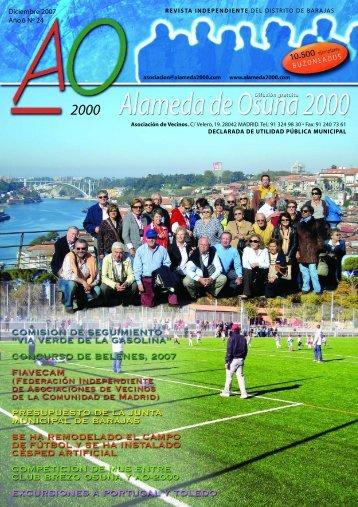 diciembre 2007 - Asociación de Vecinos Alameda de Osuna 2000