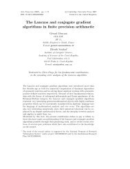 The Lanczos and conjugate gradient algorithms in ... - Gerard Meurant