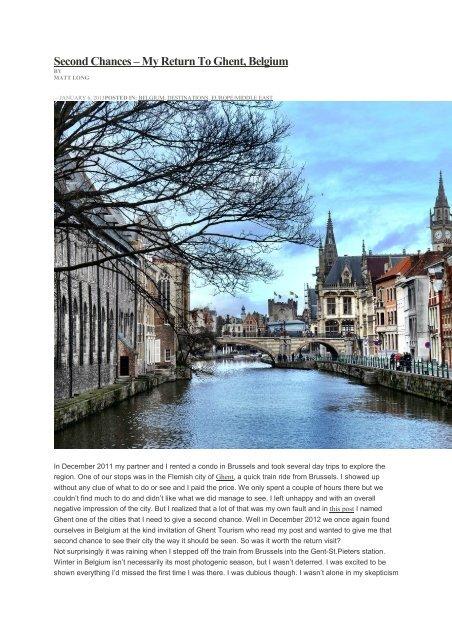 Second Chances – My Return To Ghent, Belgium - Visit Gent