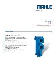 Einfachfilter EG3 - MAHLE Industry - Filtration