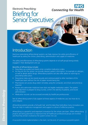 Briefing for Senior Executives - NHS Connecting for Health