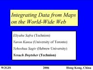 Integrating Data from Maps on the World-Wide-Web