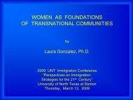 Laura Gonzalez - University of North Texas