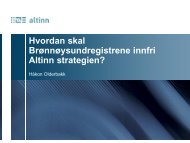 Hvordan skal Brønnøysundregistrene innfri Altinn ... - Semicolon
