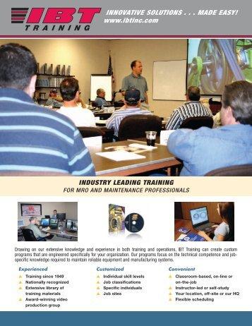 Training Services Line Card - IBT, Inc.