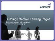 Building Effective Landing Pages - Marketo