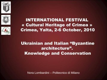 """Byzantine architecture"". - Florence-expo.com"