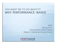 Why Performance-Based Monitoring Matters at the Campus ... - ACET