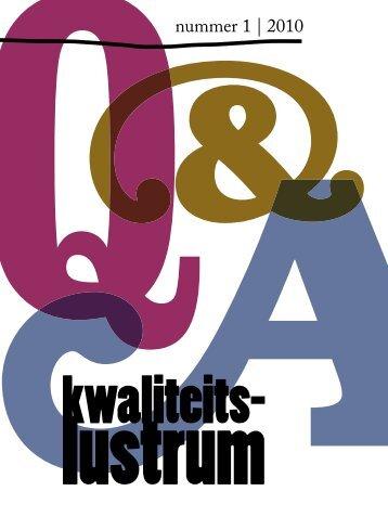 Q&A magazine Kwaliteitslustrum - NVAO