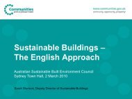 Sustainable Buildings – The English Approach - Energy Efficiency ...