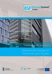 Systèmes de montage en aluminium pour façades Catalogue de ...