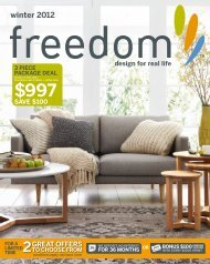 winter 2012 - Freedom Furniture
