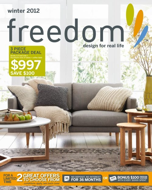 winter 15 - Freedom Furniture