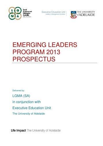 EMERGING LEADERS PROGRAM 2013 PROSPECTUS - LGMA (SA)