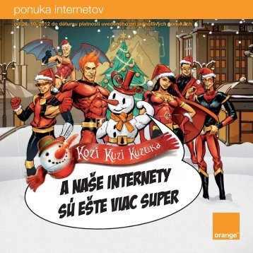 ponuka internetov - Orange Slovensko, as