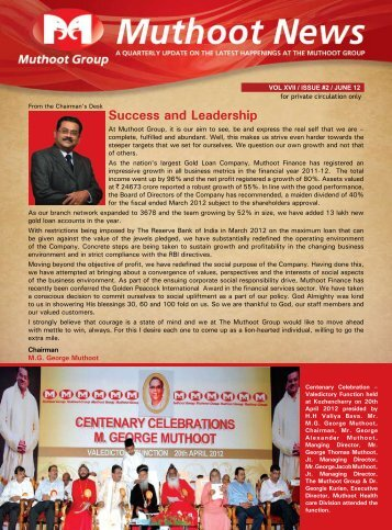 June Issue Newsletter - Muthoot Group